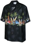 212-3313 Black Pacific Legend Boys Border Shirt
